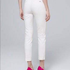 White House Black Market Pants - WHBM - white straight crop - worn once